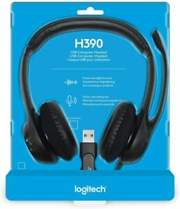 Logitech H390 USB Computer Headset with Noise-Canceling Boom Mic Comfort Headset