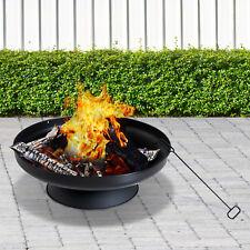 Firepit Bowl Outdoor Stove Patio Garden Round Steel Black φ59.5cm Backyard