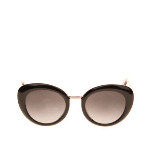 RRP €285 GUCCI Cat Eye Sunglasses Glossy Frame Gradient Lenses Made in Italy