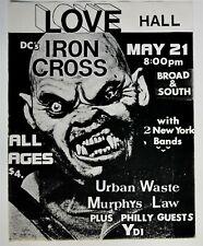 IRON CROSS YDI Love Hall Philly 1983 ORIGINAL Flyer RARE NM kbd punk hardcore