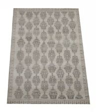 "8X10 Modern Gray Area Rug Hand-Knotted Wool Carpet (7'10"" x 9'9"")"