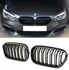 BMW F20 F21 LCI facelift 15 on gloss shine black kidney front grilles twin spoke