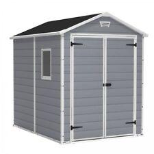 Outdoor Storage Shed Backyard Garden Yard Tools 6 x 8 Ft Resin Storage Building