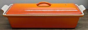 Le Creuset Meat Loaf Pan Flame Orange #32 Pate Terrine