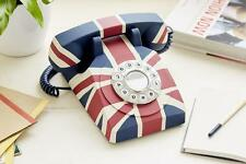 GPO Union Jack Push Button Retro Telephone Classic British Style