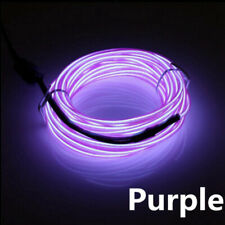 1M purple Neon LED Light Glow EL Wire String Strip Rope Tube Car Dance Party 12V