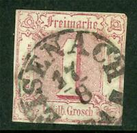 Germany 1861 Thurn & Taxis North 1sgr Pale Rose SG #16 VFU G285 ⭐⭐⭐⭐⭐