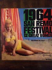 1964 San Reno Festival 12 Great Songs- Vinyl Record