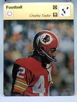 1978 SPORTSCASTER NFL CARD #25-23 CHARLEY TAYLOR WASHINGTON REDSKINS MINT