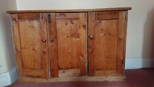Shabby chic Stripped pine old school cupboard / Children toys/ hobbies storage