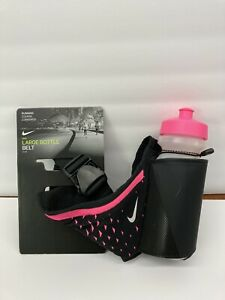 New Nike Large Water Bottle with Belt-Pink/Black Running Jogging Marathon 22 Oz
