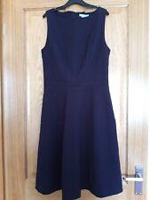 Damas Vestido H&m Azul Marino Sin Mangas Verano Vestido Talla 10 Forrado