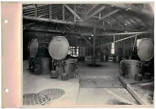 Vintage 1930s  B&W Photo West Bend WI Cannery Cook Room