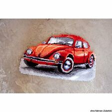 Vervaco Red Beetle Car Latch Hook Rug Multi-colour
