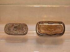 Lot de 2 Anciennes Boites à Tabac dont une à Portrait ancienne (ou Piluliers?)