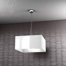 SOSPENSIONE LAMPADA LAMPADARIO CROMO LED DESIGN MODERNO BIANCO SALOTTO
