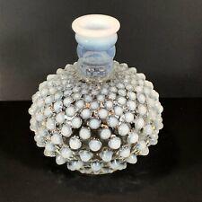 MILK WHITE HOBNAIL VASE opaque flower glassware opalescent vintage glass (#02)