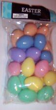 """24 Mini Plastic Easter Eggs 1 3/4"""" Pastel Colors Crafts Pet Toy Surprise Egg New"""