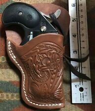 """Brown Leather Derringer Holster fitting the Cobra Big Bore 2 3/4"""" 38Spcl 9mm 380"""