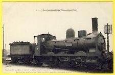 cpa LOCOMOTIVE à VAPEUR (Etat) pour TRAIN de MARCHANDISES Construite en 1891