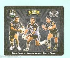 2008  RUGBY LEAGUE  TAZO  #71  CLUB LEGENDS,  NEW ZEALAND WARRIORS