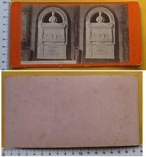 Stereophoto Pisa Monumento a Montanelli del Romanelli G. Brogi n.3435 - '800