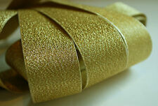 *** GOLD LAM'E- XMAS -  Ribbon - 30mm Wide ***