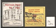 Cinderella -Sm292- Gb Strike Mail - Budleigh Salterton - Topsham - Two Values