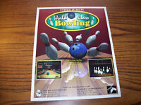 INCREDIBLE TECH. WORLD CLASS BOWLING VIDEO GAME FLYER