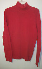 Polo Jeans Co ladies turtleneck sweater S 100% cotton red raglan sleeves