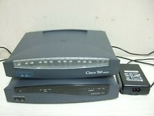 2 Cisco 800 Series Adsl Fast Ethernet Router 837 W/ Power Supply 762 M No P. S.