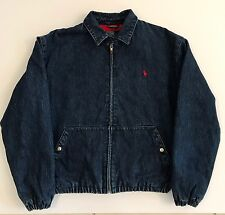 VINTAGE POLO RALPH LAUREN MENS DENIM JACKET COAT W/ FLEECE LINING SZ. SMALL EUC!