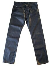Hugo Boss Coated Jeans Grey Straight Regular Fit Stretch