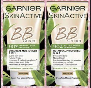 2 X Garnier Skin Active BB Cream Combination to Oily Skin Medium 50ml
