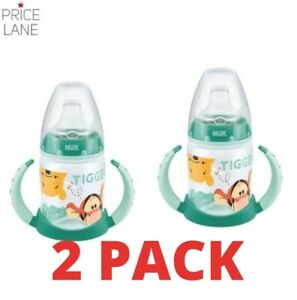 Baby Toddler NUK Disney Winnie the Pooh Training Learner Bottle 2 PACK 150ml