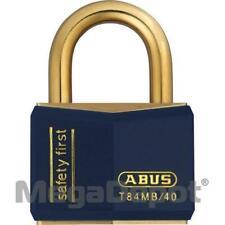 Abus T84mb40 B Kd Blue 85951 Weatherproof Brass Padlock Blue