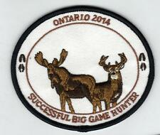 2014 ONTARIO MNR BIG GAME HUNTER PATCH-MICHIGAN DNR DEER-BEAR-MOOSE-ELK-CREST