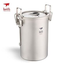 Keith Ti6300 Multipurpose Titanium pot cookware light-weight camping cooker 6300