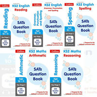 Collins KS2 SATs Revision and Practice New Curriculum Collection 5 Books Set(Mat