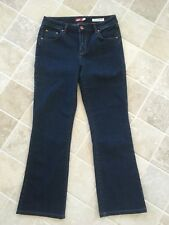 WOMENS JAG JEANS SIZE 10, DARK BLUE, HIGH RISE, BOOT CUT, COTTON/POLYESTER #1093
