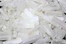 "1/2 lb Bulk Wholesale Lot 3"" Selenite Logs Crystal Sticks Wand Blade 8 oz"