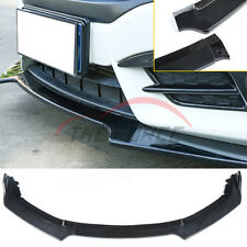 3pcs Carbon Fiber Style Front Bumper Lip Body Kit Spoiler For 16-18 Honda Civic