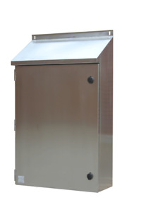 316 Stainless Steel Electrical Enclosure 30Deg Sloping Roof 1200Hx600Wx300D