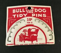 Vintage Bulldog Bull Dog Tidy Pins Upholstery Auto Car Seats Roof Lining NEW
