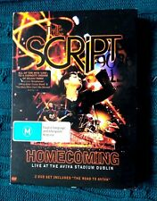 THE SCRIPT- HOMECOMING – DVD, 2-DISC SET- R-ALL- LIKE NEW-FREE POST IN AUSTRALIA