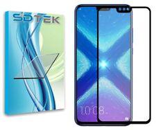 Sdtek cristal vidrio templado protector de pantalla para Huawei honor 8x (negro)