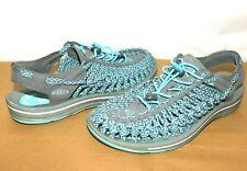 ❤️KEEN Uneek Magnet Gray Blue Turquoise Slingback Sandal 9.5 M GREAT! @K!r