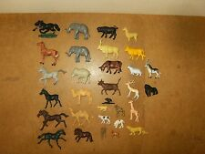 Lot d'anciennes figurines, animaux en plastique ( 31 pièces ) - années 80's