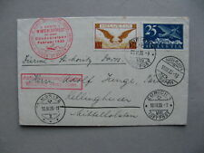 SWITZERLAND, airmail cover 1935, Winterlüftpost Bündneralpen