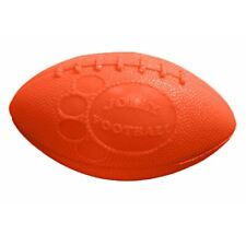 Jolly Pets Football Interactive Tough Floaty Ball Fetch Toss Dog Chew Toy Orange